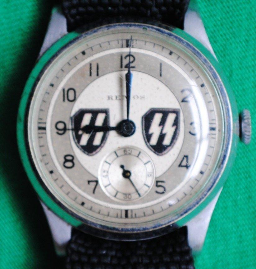 WWII German Nazi wrist watch with SS Logo
