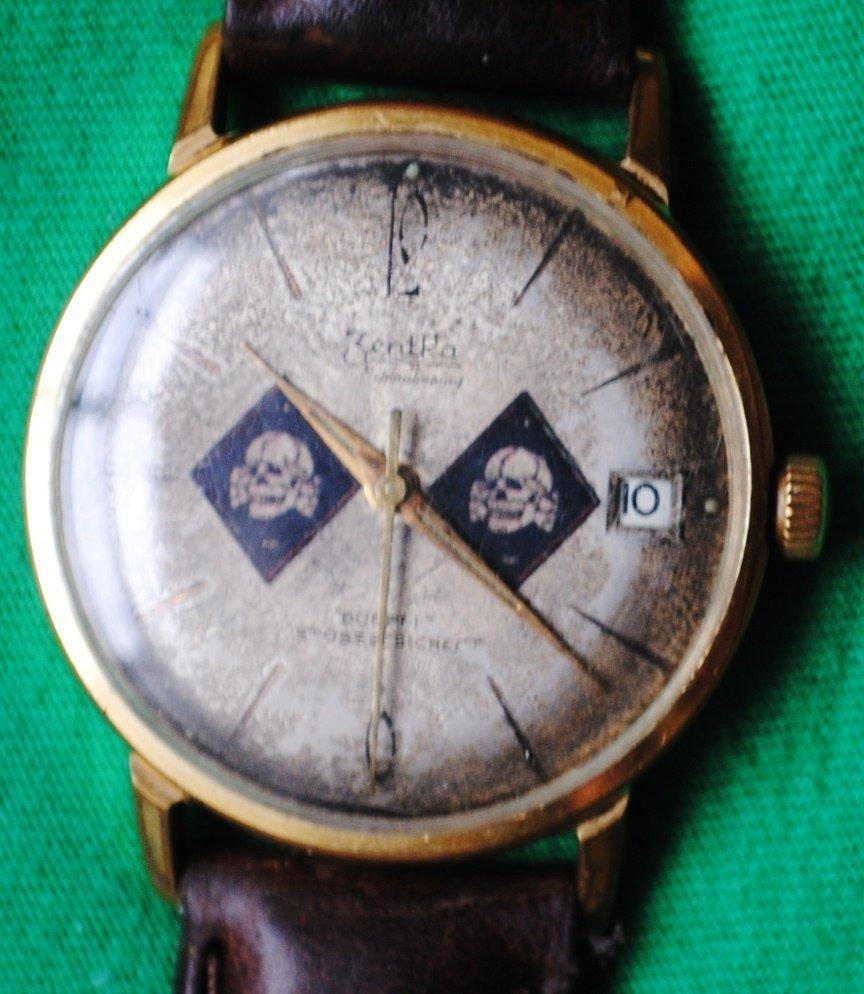 WWII German Nazi SS Tottenkopf wrist watch