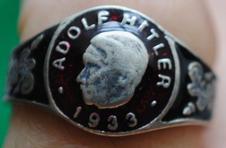 German Nazi NSDAP Adolf Hitler enameled ring