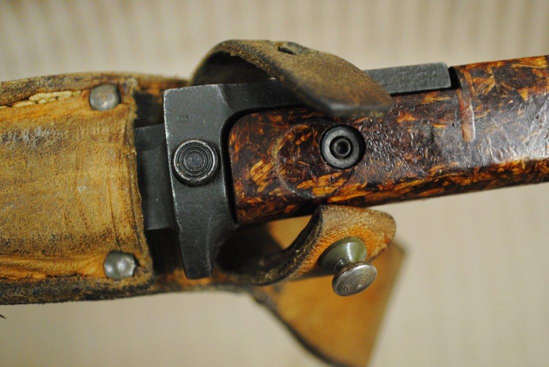 Czechoslovakian 1960s SKS, AK47 bayonet in leather shea - 4