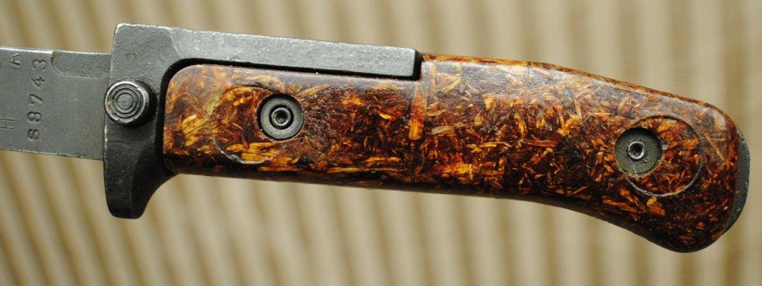 Czechoslovakian 1960s SKS, AK47 bayonet in leather shea - 7