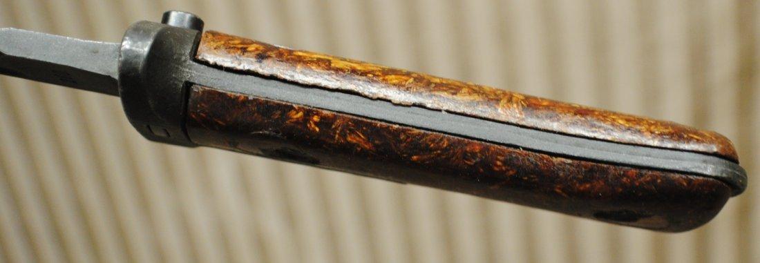 Czechoslovakian 1960s SKS, AK47 bayonet in leather shea - 9