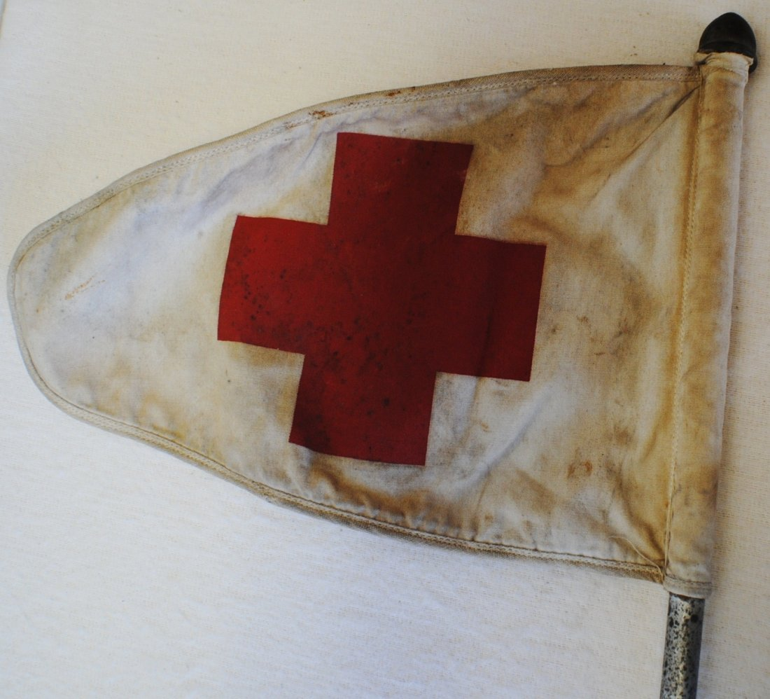 WWII Red Cross truck flag