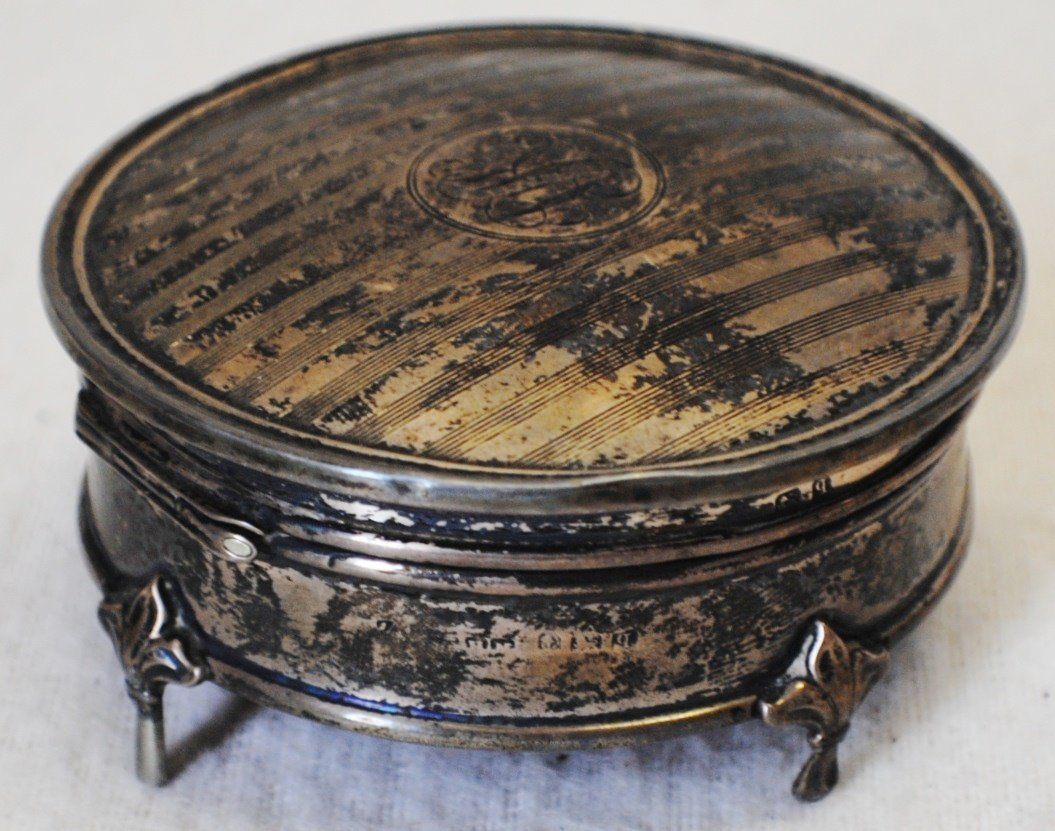 English Henry Metthew Sterling silver jewelry box