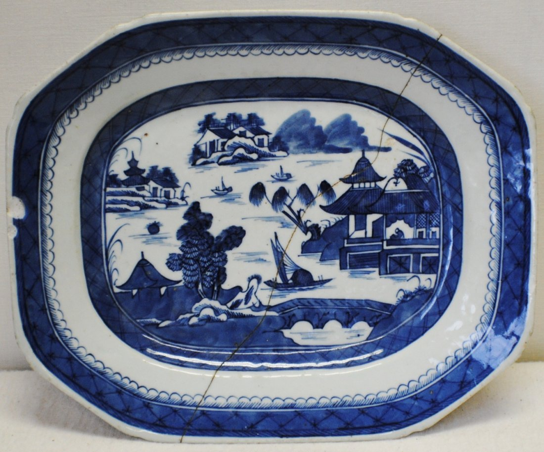 Chinese Canton Blue and White charger