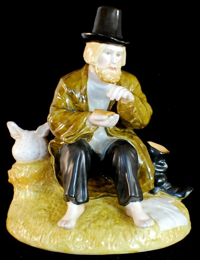 "Russian Porcelain figurine ""The Halt"". Gardner factory"