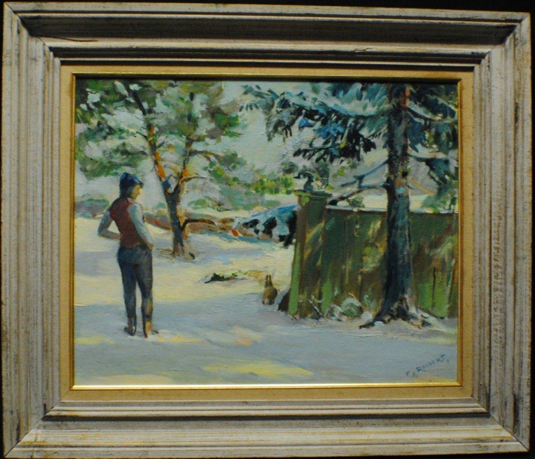 "Frederic Reinert (1900 - 1974) ""Unexpected encounter"""
