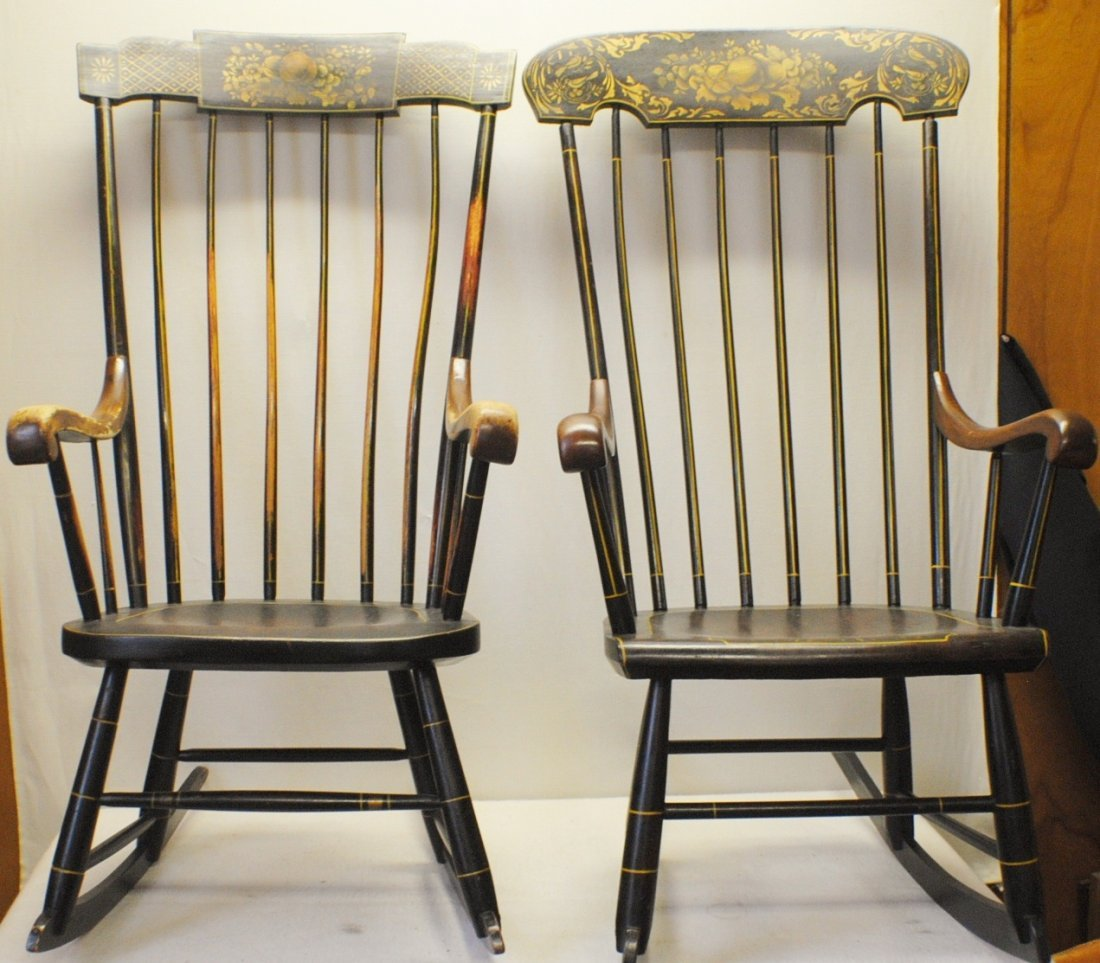 Pair of Rocking Chairs from Abraham Lincoln house in Sp