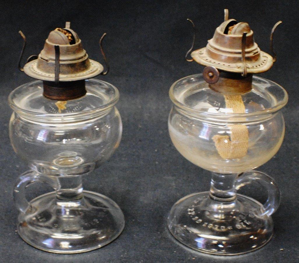 Pair of 1870 Oil Guard lamps
