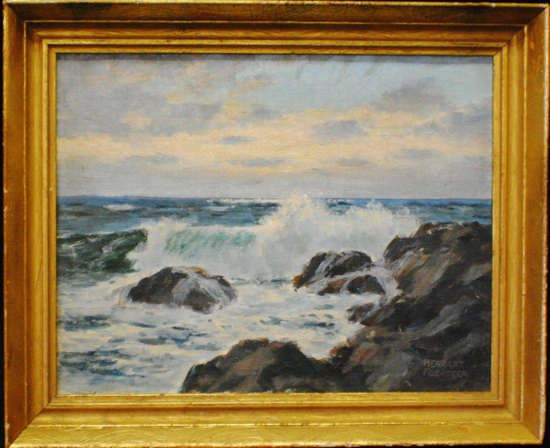 """Herbert Foerster (1910 – 2000) """"""""Crashing Waves"""""""