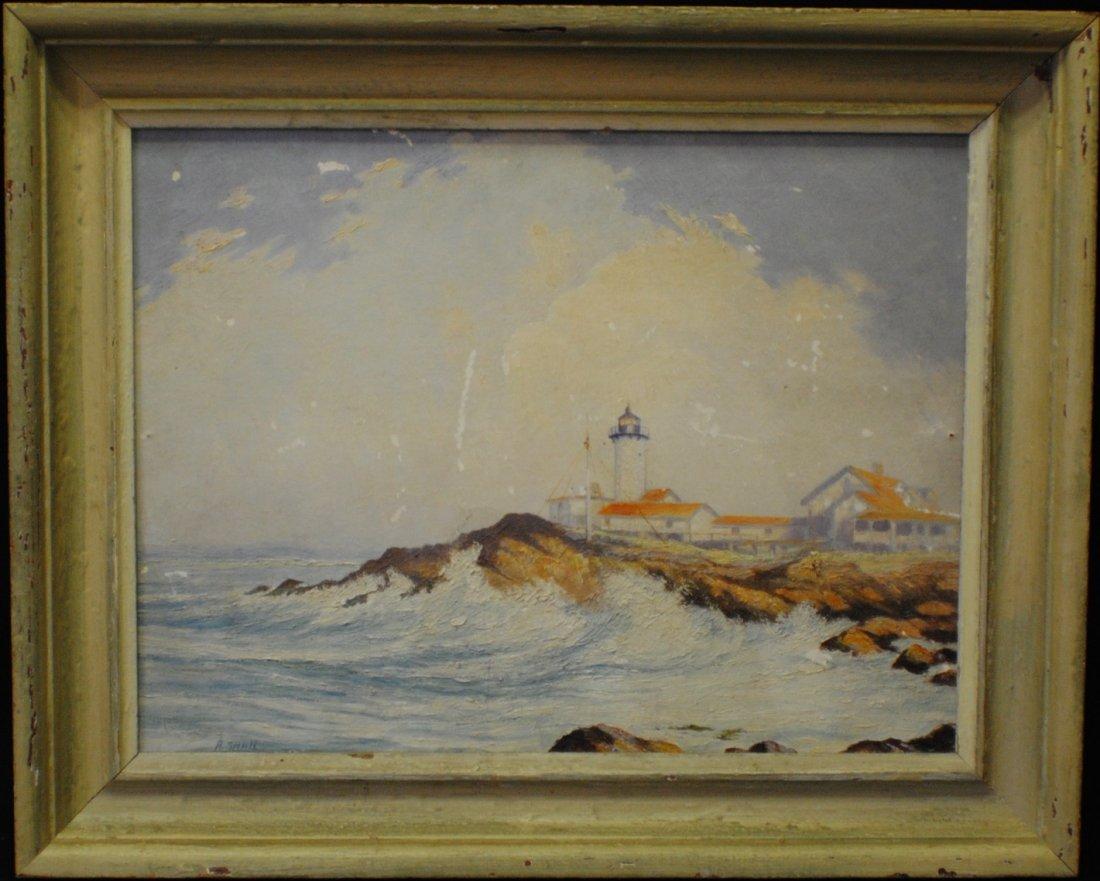 """Arthur Small (1885 – 1958) """"Eastern Point Light"""""""