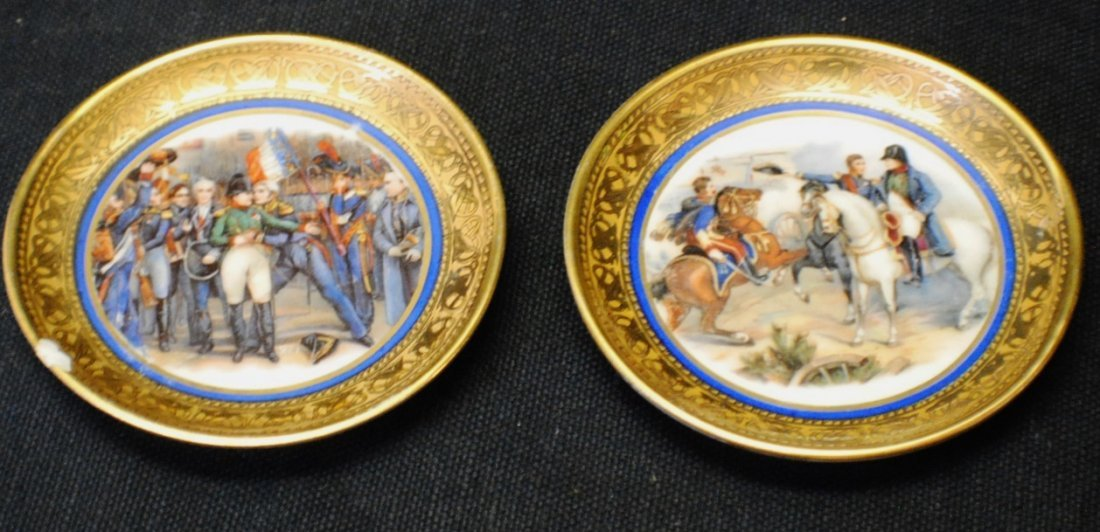 Pair of miniature Napoleon plates