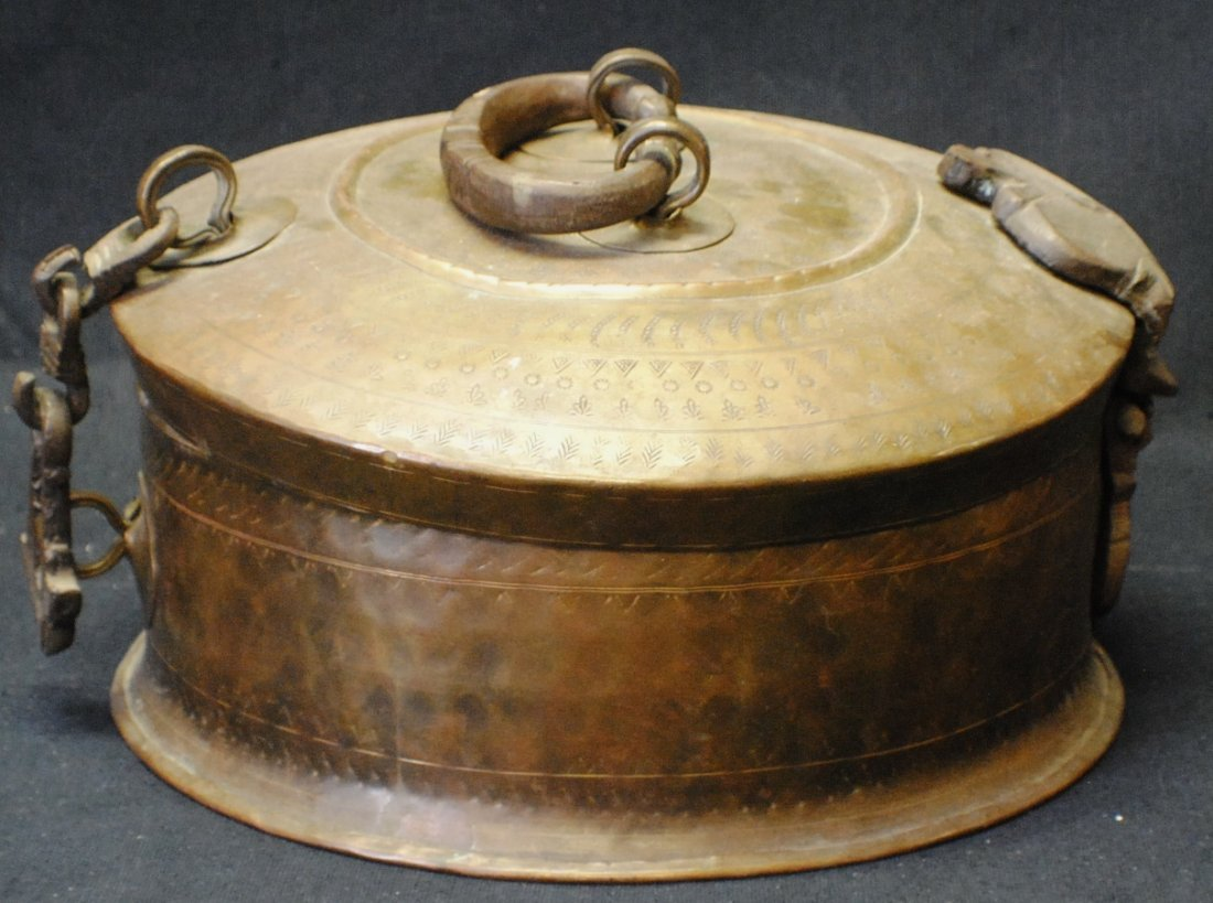 Chinese brass box
