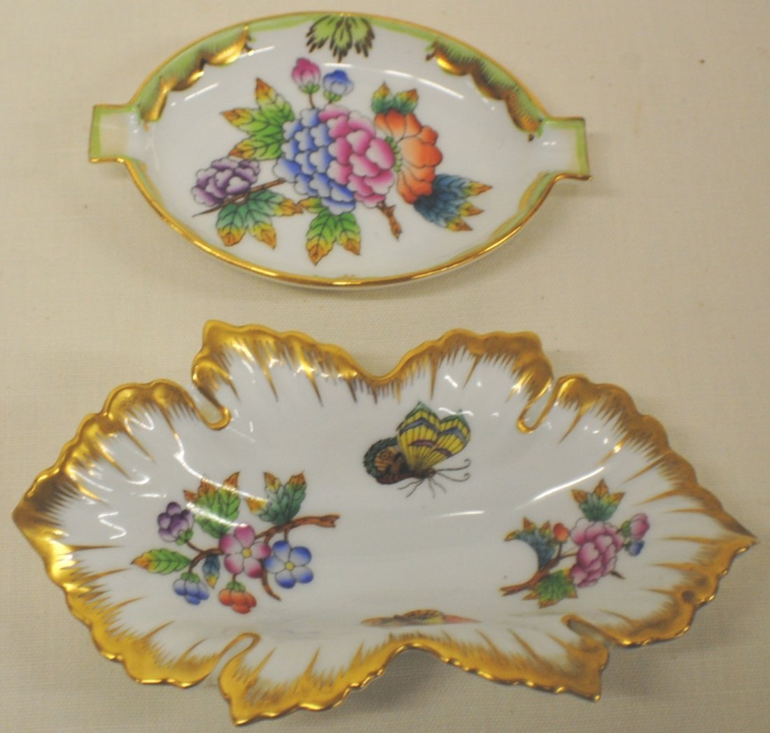 Lot of 2 Herend porcelain pieces