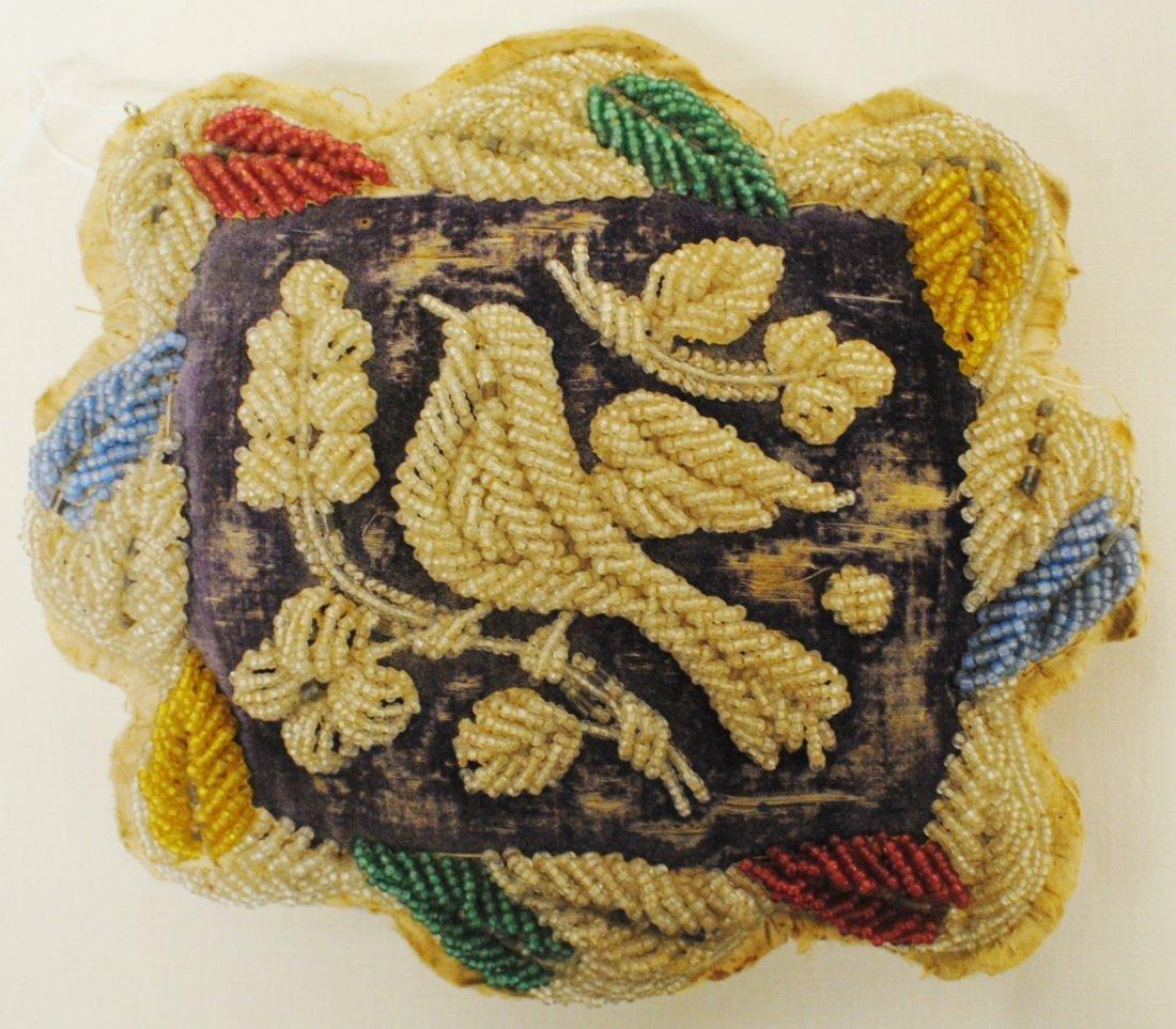 1800's Beaded pillow