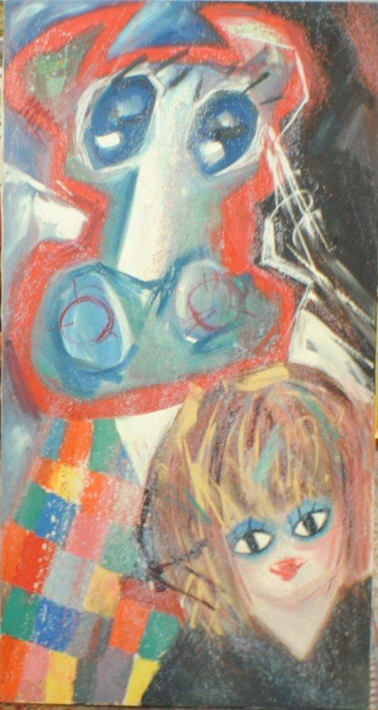 "Lev Kropivnitsky (1922 – 1995) ""The Bull and the Girl"""