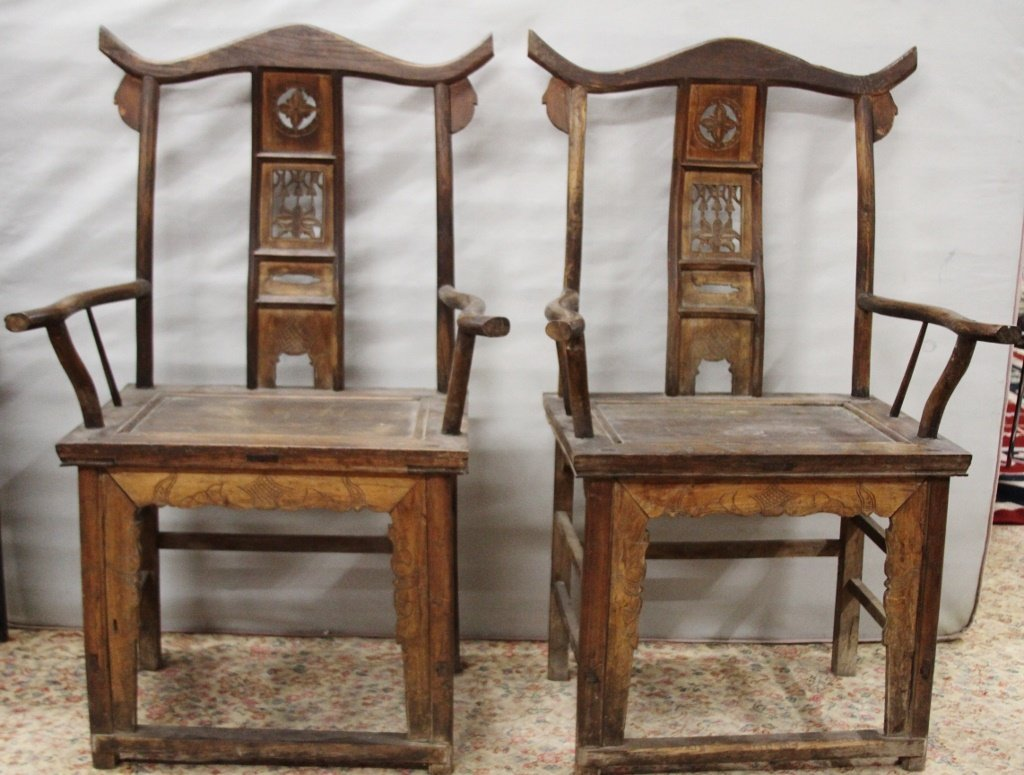 Pair of Chinese Qing period chairs