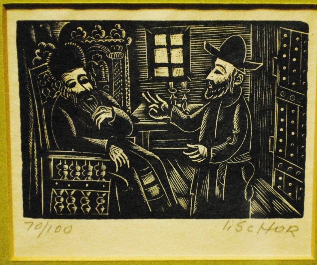 Ilya Schor (1904 – 1961) Judaica Woodcut