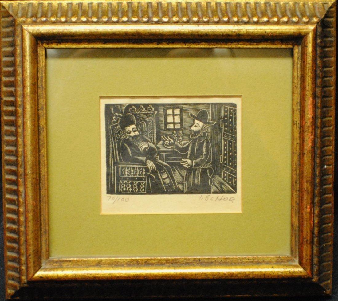 Ilya Schor (1904 – 1961) Judaica Woodcut - 2