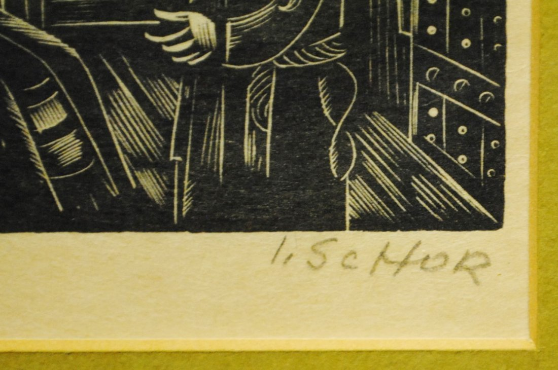 Ilya Schor (1904 – 1961) Judaica Woodcut - 3
