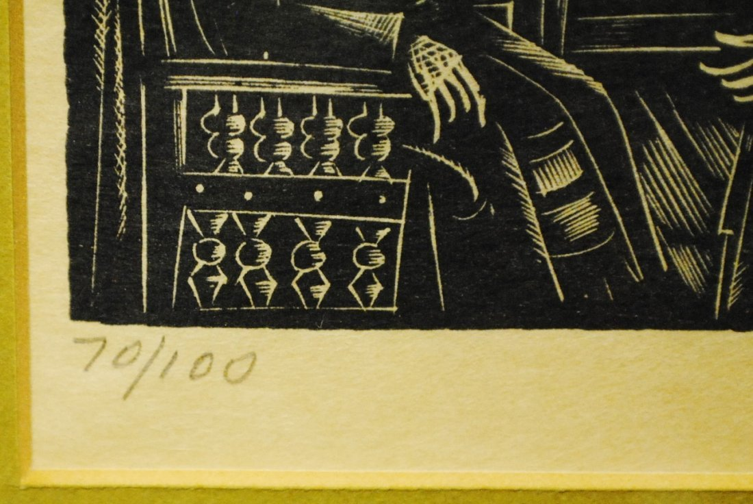 Ilya Schor (1904 – 1961) Judaica Woodcut - 4