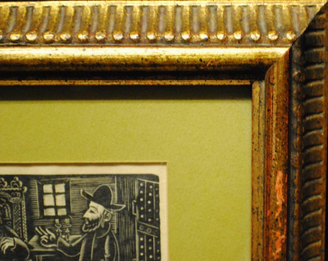 Ilya Schor (1904 – 1961) Judaica Woodcut - 5