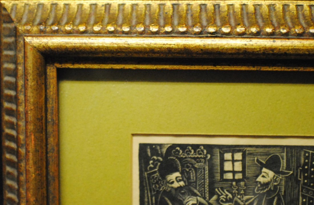 Ilya Schor (1904 – 1961) Judaica Woodcut - 6