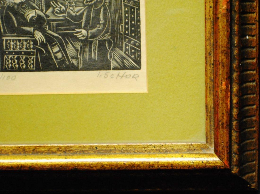 Ilya Schor (1904 – 1961) Judaica Woodcut - 7