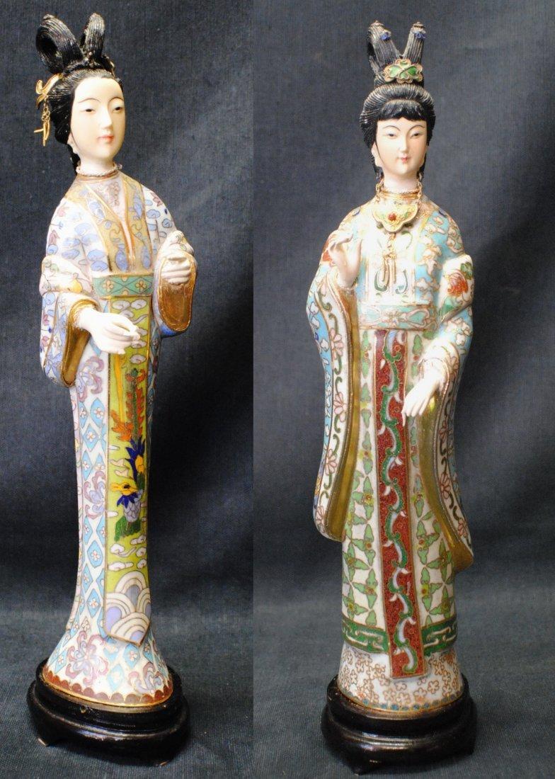 Of japanese cloisonne geisha figurines pair of japanese cloisonne geisha figurines reviewsmspy
