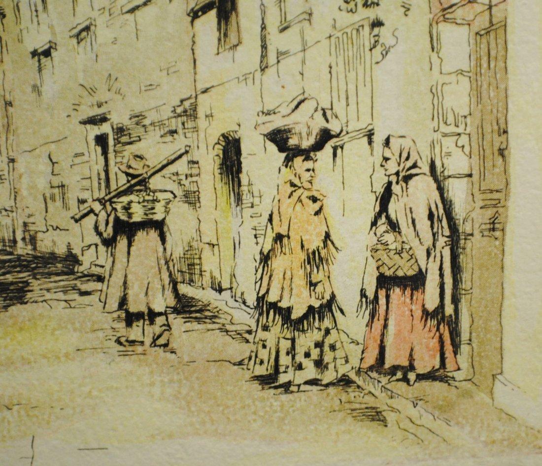 "R. Cervenka ""French Village"" etching - 5"