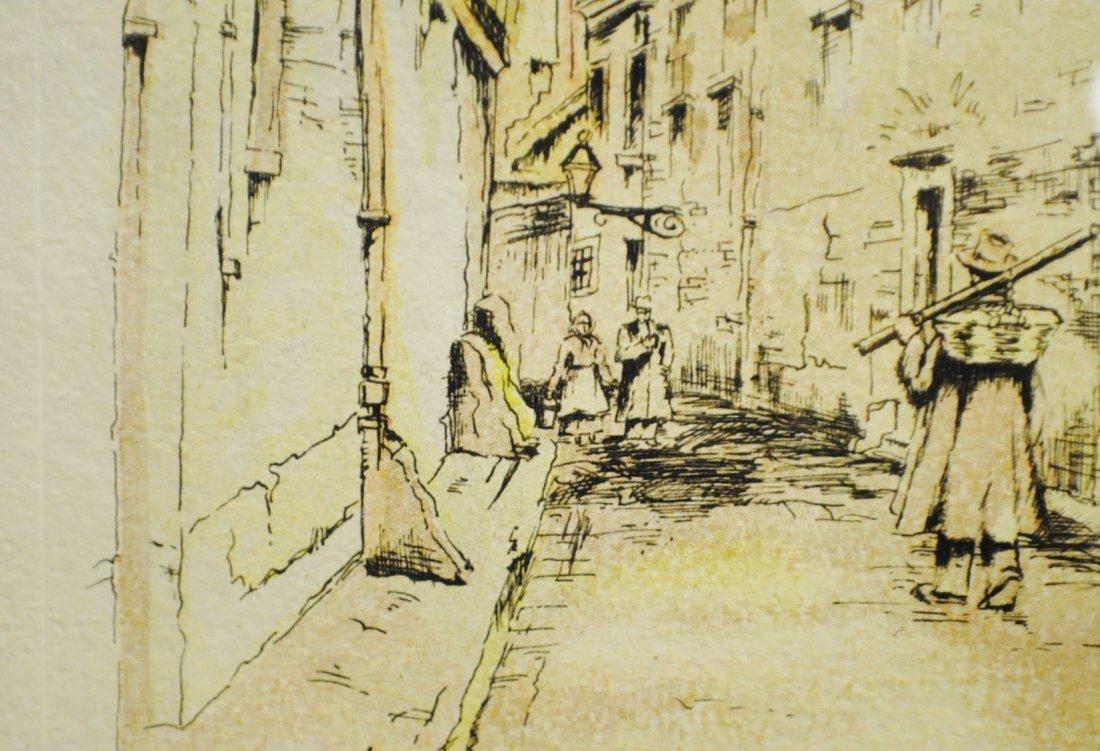 "R. Cervenka ""French Village"" etching - 6"