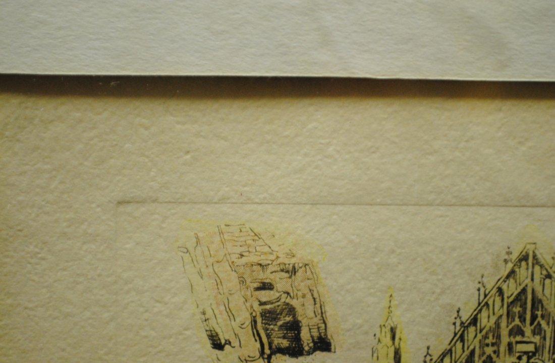 "R. Cervenka ""French Village"" etching - 8"