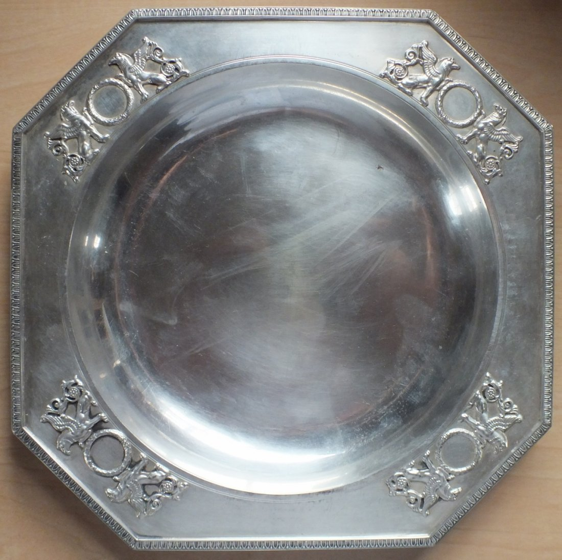 Imperial Russian Karl Faberge 84 silver tray