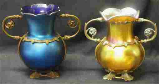 Pair of Louis Tiffany Favrile vases