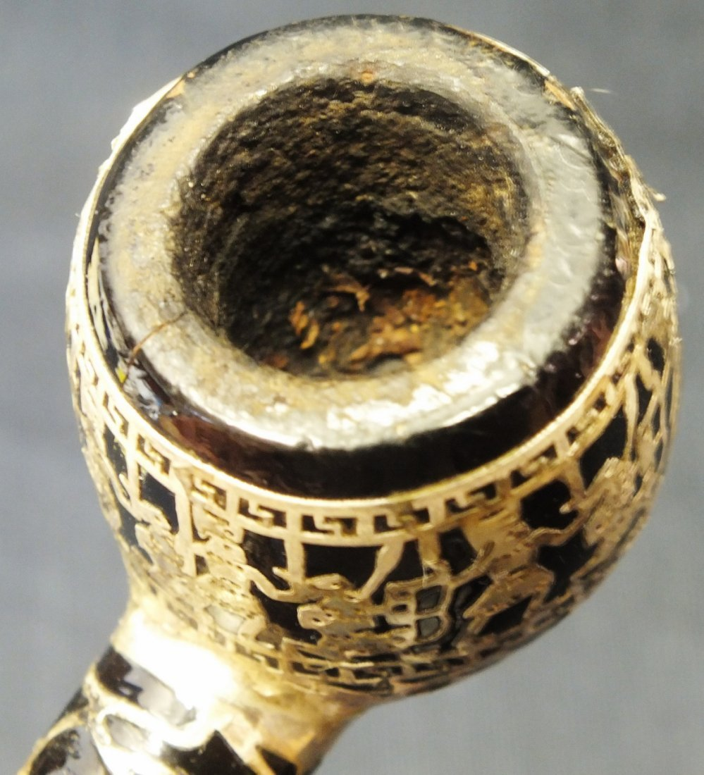 Japanese Medico pipe with Sterling silver overlay - 10