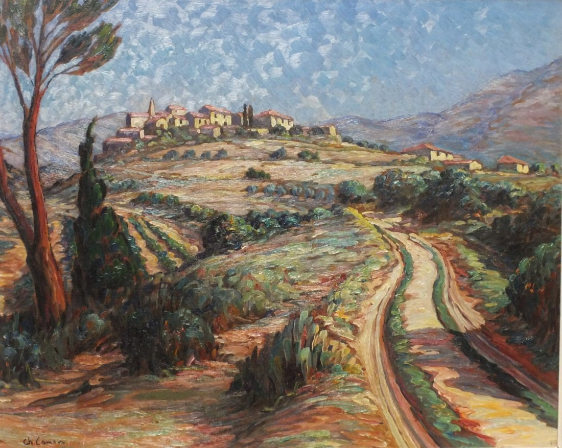 """Charles Camoin (French, 1879 - 1965) """"Vaucluse landscap"""