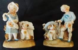 Pair of Dresden porcelain figurines