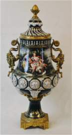 Meissen style large urn with lid