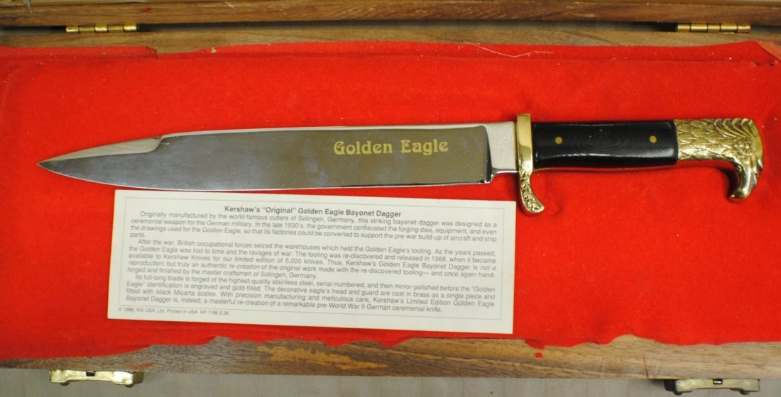 Kershaw Solingen German Golden Eagle Dagger - 3