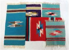 Lot of 5 Indian rugs