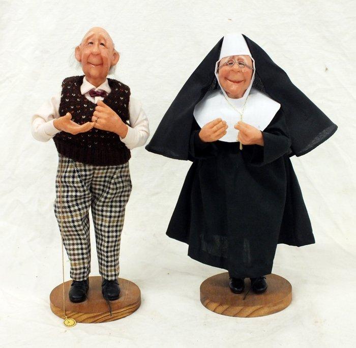 "Pair of Knickerbocker ""Nana'a Family"" Figurines"