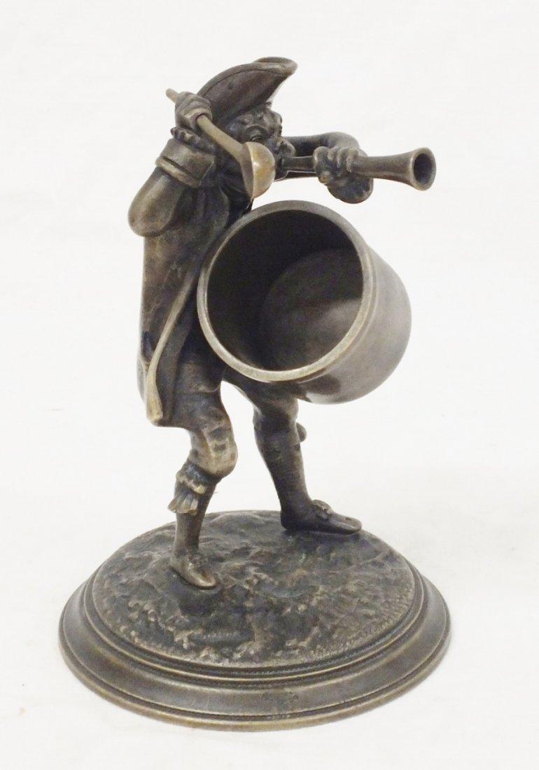 """Troubadour"" bronze sculpture"