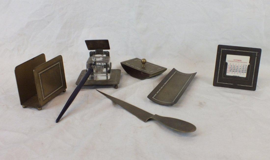 Bradley & Hubbard Arts and Crafts desk set