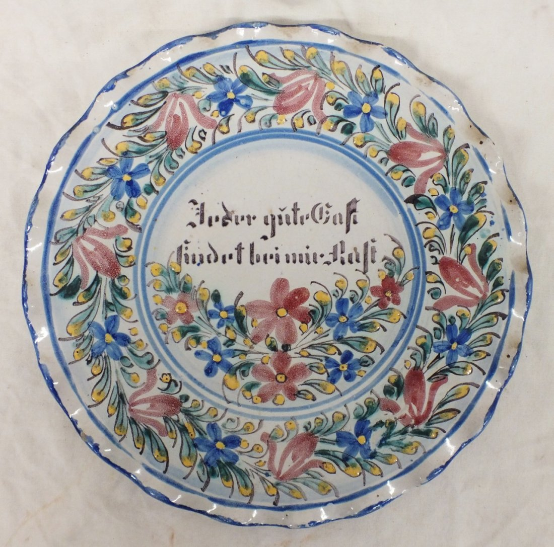 Early European faience charger