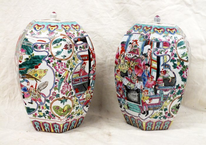 Pair of Chinese jars