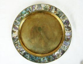 Alpaco Mexican Abalone Inlaid Plate