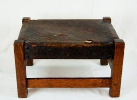 Gustav Stickley Foot Stool