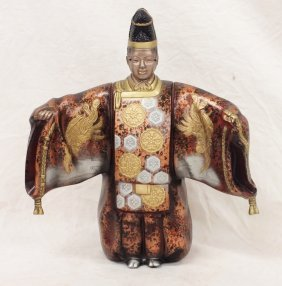 Japanese Sculpture With Two Heads