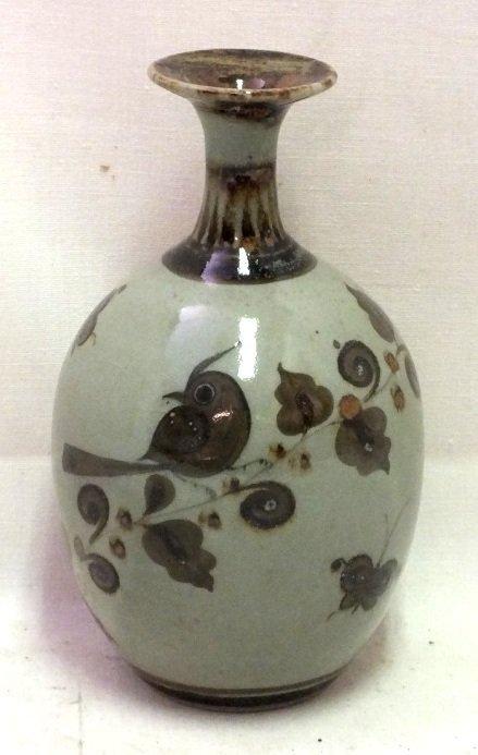 Japanese celadon vase
