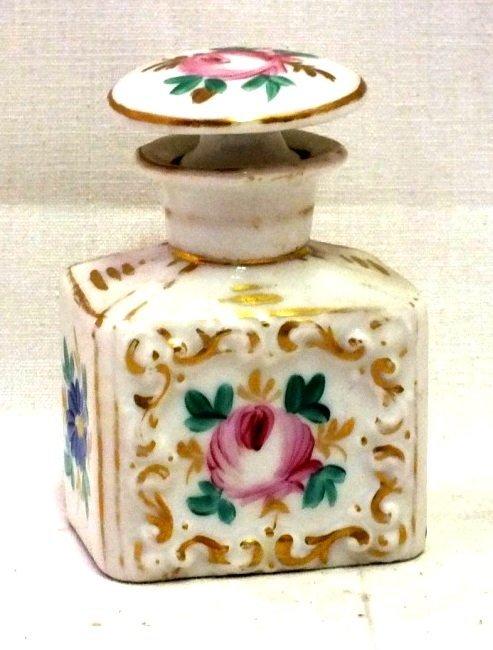 Antique Continental porcelain perfume bottle